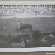 Fotografía antigua: FOTO DE CORRIDA DE TOROS : TORERO EN PLENA FAENA. Lote 125176099