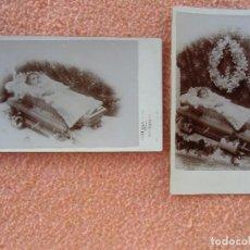 Fotografía antigua: NOVELDA(ALICANTE) FOTO JAIME BELDA ALTED.NIÑA POST-MORTEN.HACIA 1910.. Lote 125850383