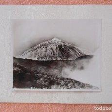 Fotografía antigua: TENERIFE.FOTO LA MASCOTA.EL TEIDE CON NIEVE,AÑOS 20.. Lote 125937047