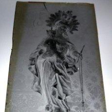 Fotografía antigua: ANTIGUO CLICHE NEGATIVO EN CRISTAL VIRGEN DEL ROSARIO ZARAGOZA. Lote 126405423