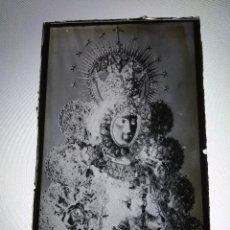 Fotografía antigua: ANTIGUO CLICHE NEGATIVO EN CRISTAL NTRA SRA DEL ROCIO ALMONTE HUELVA. Lote 126599243