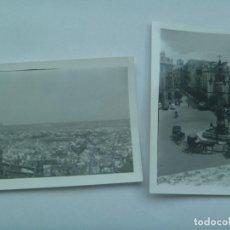 Fotografía antigua: LOTE DE 2 FOTOS DE SEVILLA DESDE LA GIRALDA : PLAZA DE TOROS, PLAZA DEL TRIUNFO CON COCHES. Lote 126721183