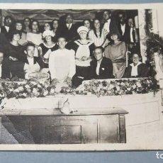 Fotografía antigua: FOTOGRAFIA CELEBRACION. HACIA 1920. Lote 126818071