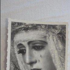 Fotografía antigua: ANTIGUA FOTOGRAFIA.VIRGEN ESPERANZA DE TRIANA.SEVILLA AÑOS 40.50. Lote 126826359