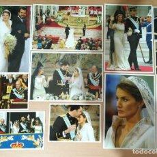 Fotografía antigua: F 10 LOTE 12 FOTOGRAFÍAS BODA REAL FELIPE Y LETIZIA ÁLBUM REVISTA PRONTO - RELACIÓN VER INTERIOR. Lote 127145683