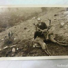 Fotografía antigua - ANTIGUA FOTO DE CAZA MOSTRANDO FANTASTICO TROFEO - ZONA SIERRA MORENA - AÑOS 20-30 - 127200247