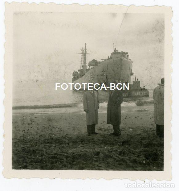 FOTO ORIGINAL BARCO DE TRANSPORTE BUQUE DE GUERRA US NAVY USS LST-32 ALAMEDA COUNTY AÑOS 40/50 (Fotografía Antigua - Fotomecánica)