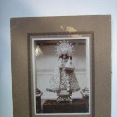 Fotografía antigua: 1. ANTIGUA FOTOGRAFÍA DE VIRGEN 1923. FOTO 17,5X12,5 CM. MARCO 26,5X22 CM. Lote 127590263