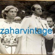 Fotografía antigua: MADRID, 1981, RECEPCION DE LOS REYES POR ONOMASTICA DEL REY DON JUAN CARLOS. 240X180MM. Lote 128563603