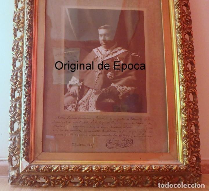 (XJ-180757)FOTOGRAFÍA OBISPO DE LA SEU DE URGEL Y COPRINCIPE DE ANDORRA,CARDENAL BENLLOCH,FIRMADA (Fotografía Antigua - Fotomecánica)