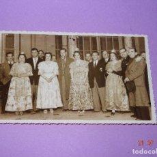 Fotografia antica: ANTIGUA FOTOGRAFÍA RECEPCIÓN AYUNTAMIENTO DEL EQUIPO FUTBOL SAN LORENZO DE ALMAGRO VALENCIA AÑO 1947. Lote 128835111