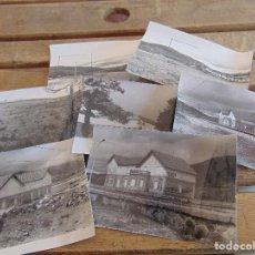 Fotografía antigua: LOTE DE 7 FOTOS DE LA ESTACION DE TREN Y CERCANIAS DE GARGANTILLA LOZOYA MADRID. Lote 129015863