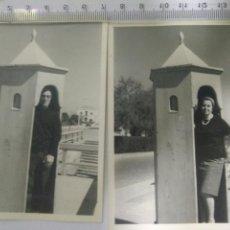 Fotografía antigua: 2 ANTIGUAS FOTOS PORTIMAO PORTUGAL HOMBRE Y MUJER AÑOS 60. Lote 129392098