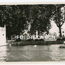 Fotografía antigua: FOTO ORIGINAL LAGO ESTANQUE DE BANYOLES AÑOS 50. Lote 129444031