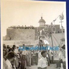 Fotografía antigua: ROTA, CADIZ, AÑOS 60, PROCESION DE LA VIRGEN DEL CARMEN, 75X105MM. Lote 131942897