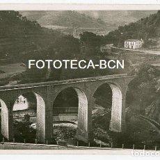 Fotografía antigua: FOTO ORIGINAL PUENTE EN COSTRUCCION FERROCARRIL TREN POSIBLEMENTE CATALUNYA AÑOS 50. Lote 129515243