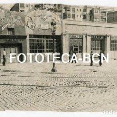 Fotografía antigua: FOTO ORIGINAL BARCELONA PL LESSEPS COMERCIOS DESAPARECIDOS AÑOS 30. Lote 129608419
