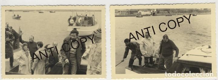 Fotografía antigua: Lote de 5 fotografías Juan de Borbon embarcando en el Abra de la ria Bilbao Las Arenas Sporting Club - Foto 2 - 129665047