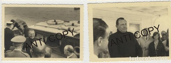 Fotografía antigua: Lote de 5 fotografías Juan de Borbon embarcando en el Abra de la ria Bilbao Las Arenas Sporting Club - Foto 3 - 129665047