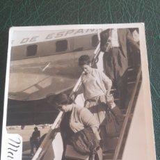 Fotografía antigua: FOTO AEROPUERTO MADRID AÑOS 50. Lote 129687590