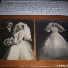 Fotografía antigua: LOTE FOTOGRAFIAS ANTIGUAS DE AMER VENTOSA, 2 GRANDES 24 X 18, 1 DE 16,5 X 11 Y 9 TAMAÑO DE PRUEBA.. Lote 129744975