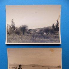 Fotografía antigua: CANGAS, PONTEVEDRA, PUERTO Y EL CAMPO - 2 FOTOGRAFIAS - AÑO 1957 - VER FOTOS ADICIONALES. Lote 131416910