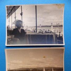 Fotografía antigua: LA TOJA, PONTEVEDRA, GRAN HOTEL - 2 FOTOGRAFIAS - AÑO 1957 - VER FOTOS ADICIONALES. Lote 131417262