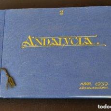 Fotografía antigua: GRANADA. MÁLAGA.- ALBUM VISITA DE FRANCISCO FRANCO A ANDALUCIA DURANTE LA GUERRA CIVIL 1938. Lote 131706590