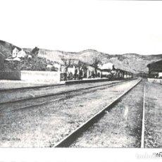 Fotografía antigua: BENICÁSIM. ( CASTELLÓN).- FOTOGRAFÍA MODERNA EN PAPEL AGFA.- FERROCARRIL 1910.- 18 X 23,5 CM. Lote 131777658