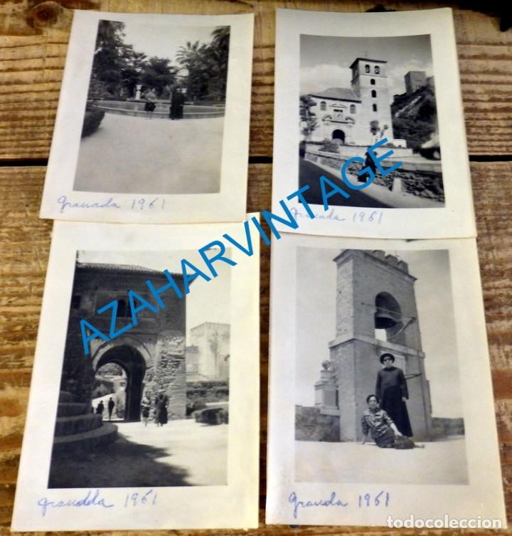 GRANADA, 1961, LOTE 4 FOTOGRAFIAS, 75X105MM (Fotografía Antigua - Fotomecánica)