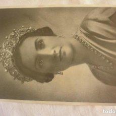 Fotografía antigua: ANTIGUA FOTOGRAFIA MARIA DE LAS MERCEDES DE BORBON Y ORLEANS MADRE REY JUAN CARLOS I. Lote 117028263