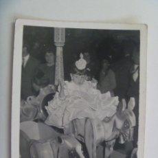 Fotografía antigua: MINUTERO DE FOTOGRAFO DE FERIA : NIÑA VESTIDA DE FLAMENCA EN CABALLITO. Lote 132108798