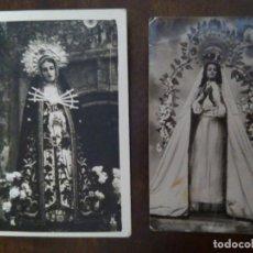 Fotografia antica: PAREJA DE FOTOGRAFÍAS ANTIGUAS DE VÍRGENES DE VILLAR DEL REY. VIRGEN DE LA ENCARNACIÓN Y LOS DOLORES. Lote 132159690