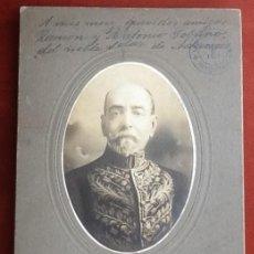 Fotografía antigua: JOSE MANUEL GUTIERREZ ZAMORA. CONSUL MEXICANO EN HONDURAS 1917 ENVIO CERTIFICADO INCLUIDO.. Lote 136013240