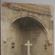 Fotografía antigua: ANTIGUA FOTOGRAFIA.CHICOS CON BANDERAS.CRUZ CAIDOS POR DIOS Y ESPAÑA.LLERENA.BADAJOZ.GUERRA CIVIL?. Lote 132613082