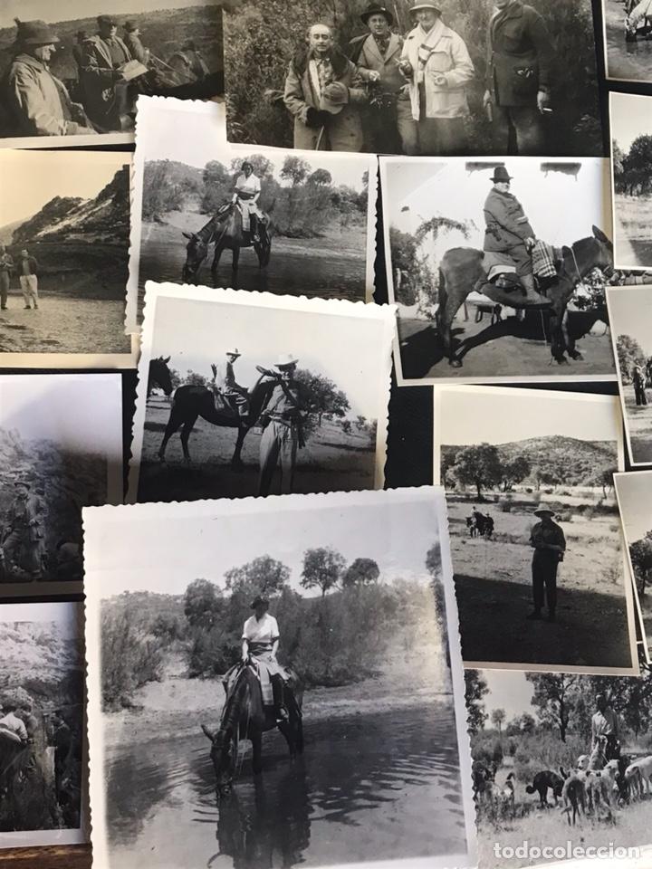Fotografía antigua: Lote de fotografías con escenas de caza monteria - Foto 2 - 132986079