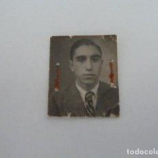 Fotografía antigua: ANTIGUA FOTO CARNET DE JOVEN AÑOS 40 FOTOGRAFO DE ALBACETE. Lote 133053086