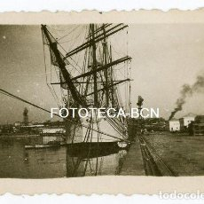 Fotografía antigua: FOTO ORIGINAL BUQUE ESCUELA GALATEA ARMADA ESPAÑOLA AÑO 1950. Lote 133303926