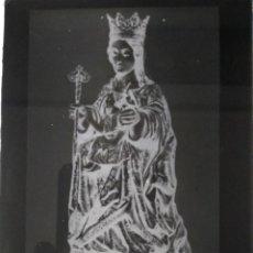 Fotografía antigua: ANTIGUO CLICHÉ DE SANTA MARÍA DE LA VICTORIA PATRONA DE MÁLAGA NEGATIVO EN CRISTAL. Lote 133451214
