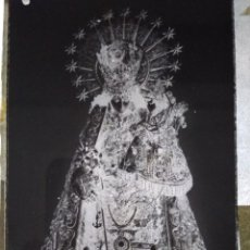 Fotografía antigua: VALENCIA ANTIGUO CLICHÉ DE LA VIRGEN DE LOS DESAMPARADOS NEGATIVO EN CRISTAL. Lote 133452522