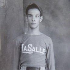 Fotografía antigua: FOTOGRAFÍA ALUMNO COLEGIO LA SALLE. SANTIAGO DE CUBA. Lote 133499878