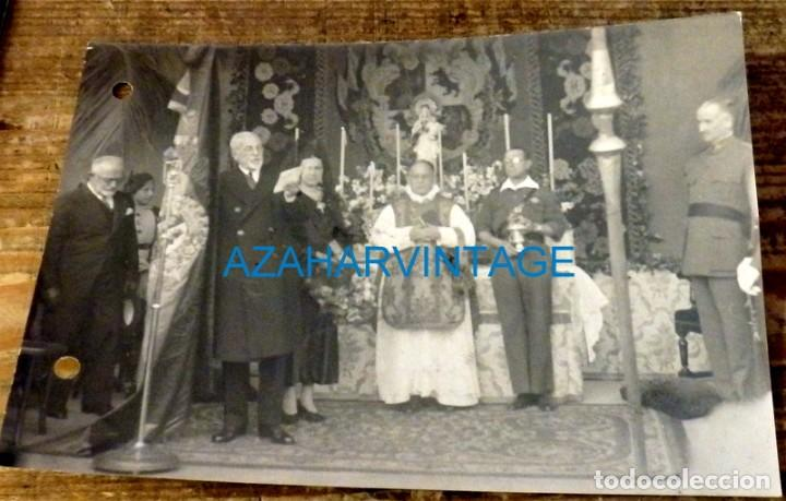 CADIZ, 1937, GUERRA CIVIL, ENTREGA BANDERA MILICIANOS, QUEIPO DE LLANO, CARRANZA,175X120MM (Fotografía Antigua - Fotomecánica)