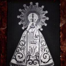 Fotografía antigua: ANTIGUO CLICHÉ DE NTRA SRA DE LA PEANA PATRONA DE ATECA ZARAGOZA NEGATIVO EN CRISTAL. Lote 133752278