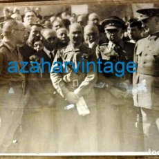 Fotografía antigua: SEVILLA, 1937.GUERRA CIVIL, QUEIPO DE LLANO JUNTO A SUS OFICIALES,170X118MM. Lote 133796678