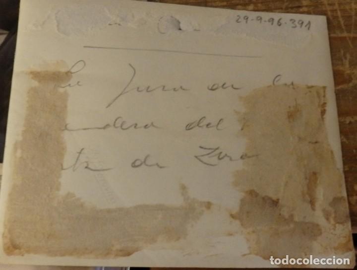 Fotografía antigua: CARLISMO, GUERRA CIVIL, JURA DE BANDERA TERCIO DE REQUETES ORTIZ DE ZARATE,125X105MM - Foto 2 - 133881514