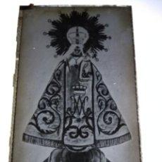 Fotografía antigua: ATECA ZARAGOZA VIRGEN DE LA PEANA ANTIGUO CLICHÉ NEGATIVO EN CRISTAL. Lote 134241702