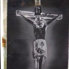 Fotografía antigua: ANTIGUO CLICHÉ DEL STMO CRISTO DE LA AGONÍA DE GENDE PONTEVEDRA NEGATIVO EN CRISTAL. Lote 134368122