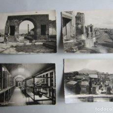 Fotografía antigua: 1938- 4 FOTOGRAFIAS-POSTAL DE POMPEYA. POMPEI. ITALIA. ORIGINALES. Lote 134493438