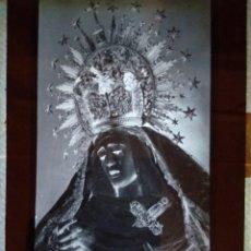 Fotografía antigua: TRIANA SEVILLA ANTIGUO CLICHÉ DE MARÍA STMA DE LA ESTRELLA NEGATIVO EN CRISTAL. Lote 134672182