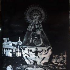 Fotografía antigua: ANTIGUO CLICHÉ DE NUESTRA SEÑORA DEL HENAR CUÉLLAR SEGOVIA NEGATIVO EN CRISTAL. Lote 134710898